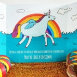 Evil Unicorn Glitter Card