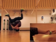 Watch A Breakdancer Solve A Rubik's Cube While Headspinning