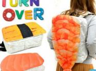 The Sushi Backpack Looks Like Sushi, Is A Backpack