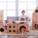 Customizable Cardboard Cat Houses
