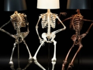 Check Out These Posable Life Size Skeleton Lamps!