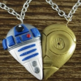 R2D2 & C3PO Best Friend Necklaces