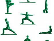 Yoga Joes: Little Green Army Men Performing Yoga Poses