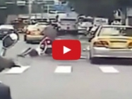 Motorcyclist Loses Girlfriend, Keeps Driving