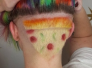 This Lady's Pizza Hair Head Shave Is Just Everything
