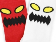 Monster Face Socks-Red by Toy Machine
