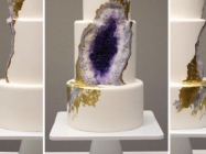 One Baker Created A Beautiful Amethyst Cake That Truly Rocks
