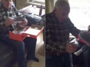 This Grandpa Receives Light Up Shoes And It's Just The Best