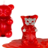 Gummi Bear Skeleton Candle