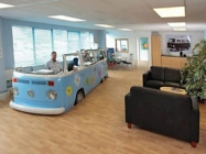VW Van Makes One Groovy Workspace