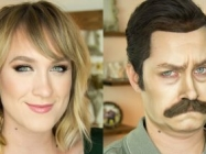 Watch This Makeup Artist Turn Herself Into Ron Swanson