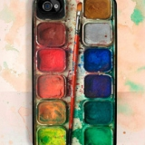 Watercolor Set iPhone Case