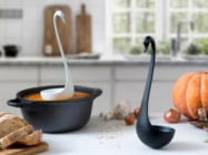 Meet Swanky! It's A Swan Ladle That Floats On Top Of Soup