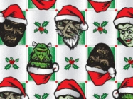 Santa x Monster Mash Up Wrapping Paper