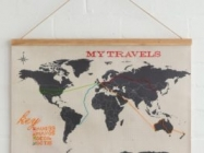 Track Your Travels With This Clever Cross Stitch World Map