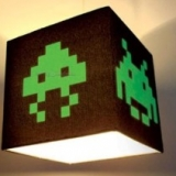 Space Invaders Lamp Shade