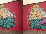 Topless Graffiti Gets Mastectomies for Breast Cancer Awareness