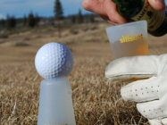 Why Not? Shot Glass & Golf Tee Combo