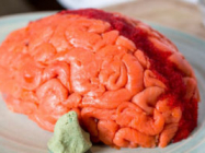 The Fish Sushi Brain Is Filled With Avocado, Cream Cheese, & Rice!
