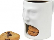 These Funny Face Mugs Holds A Donut Or Cookies In Its Mouth