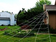 Halloween Decoration: Triangular Outdoor Mega Spider Web