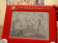 One Artist Recreates Famous Artworks On An Etch-A-Sketch