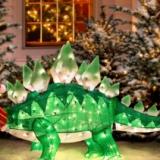 Dinosaur Christmas Lawn Decoration
