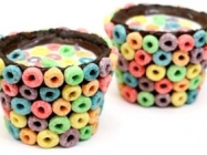 How To Make Fruit Loop Chocolate OREO Cookie Cups