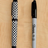 Checkers Sharpie Marker Cover
