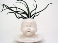A Baby Head Planter Vase, Because Why The Heck Not?