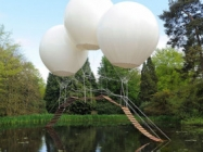 A Bridge Supsended By Balloons