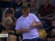 Baseball Fan Tries To Catch Foul Ball, Gets Nacho-ed In The Face