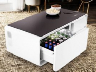 Here's A Coffee Table Equipped With A Mini Fridge
