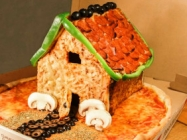Move Over Gingerbread House, The Pizza House Is In Town