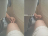 A Guy On A Plane Wakes Up To A Kid Pulling His Leg Hair