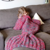 Crocheted Mermaid Blanket