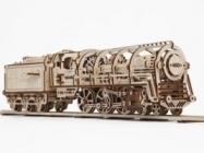 UGEARS: Steam Locomotive With Tender Model