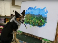 This Dog Paints A Landscape, Is More Talented Than Us All