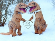 T-Rex Engagement Shoot, Because Dinos Need Love Too