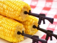 People Who Like Corn And Guns Will Like Gun Corn Holders