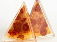 Forever Pizza Is Pizza Slice Preserved In A Block Of Resin