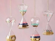 Pastel Painted Hanging Hourglass Ornament