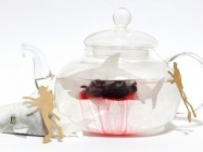 These Bad To The Ass Shark Tea Bags Bleed Blood Red Tea