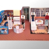DIY Papercraft Dioramas Of Popular TV Show Sets