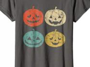 Vintage Pumpkin T-Shirt Funny Pumpkin Halloween Gift Shirt