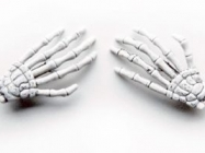 Astonishing Skeleton Hand Shaped Hair Clips